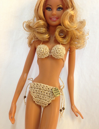 Barbie doll bikini